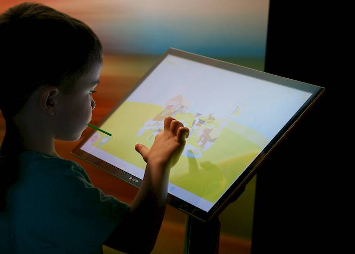 Game for kids on touchscreen