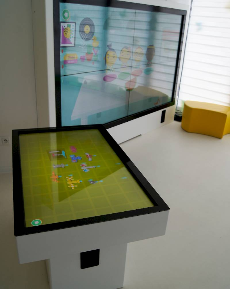 Interactive table with a game for kids