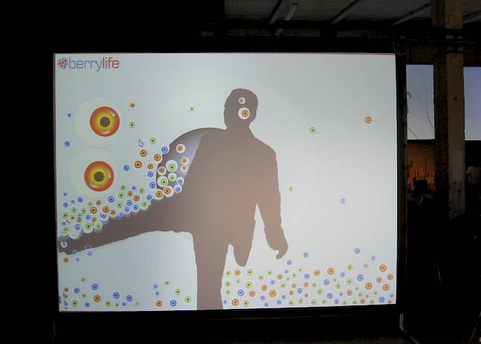 Interactive wall with Kinect device