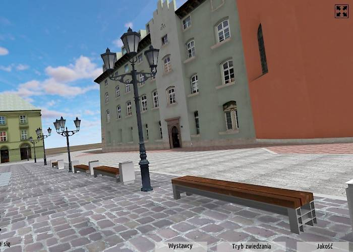 Virtual tour of the Maly Rynek in Cracov