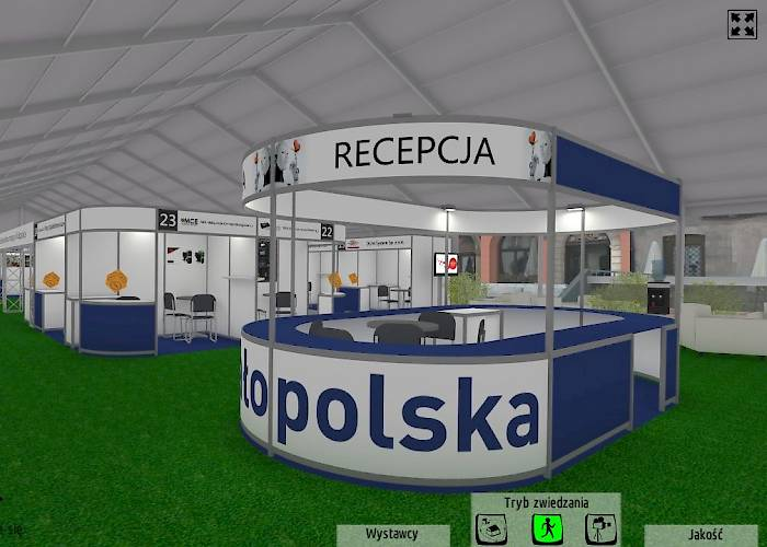 Virtual tour of the exhibition tent