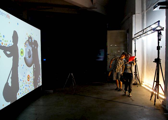 Interactive wall using Kinect technology