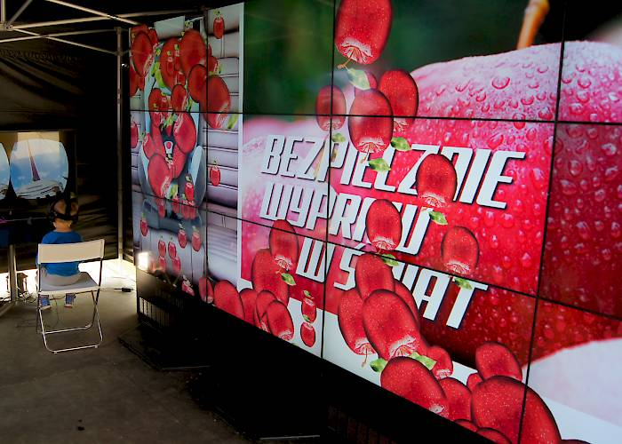 Interactive wall with a promotional application