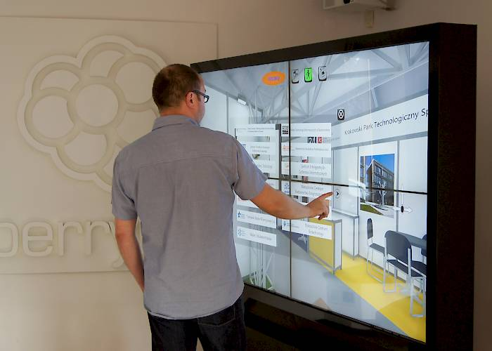 Multitouch wall with an interactive app