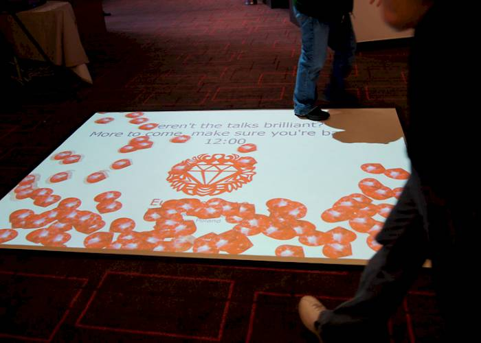 Interactive floor - Euruko conference