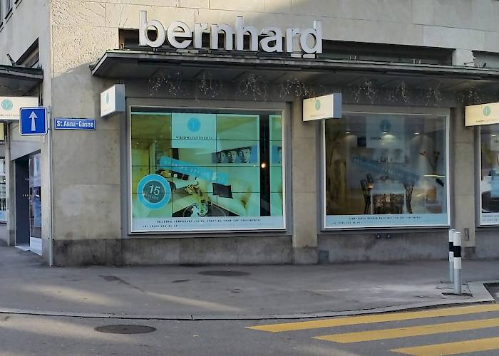 Multimedia storefront in Zurych
