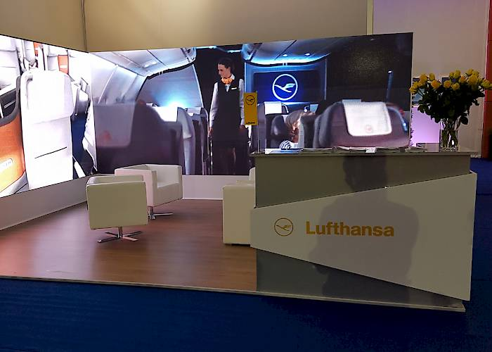LED screen on Lufthansa stand in Krynica