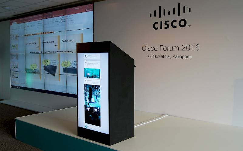 Multimedia stand - presentation of device on Cisco Forum 2016