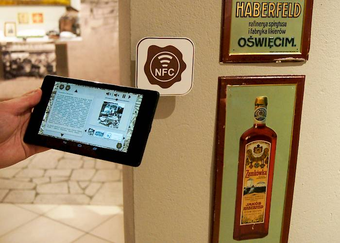 The Castle Museum in Oswiecim - mobile app with NFC, multimedia guide