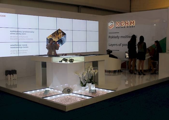 KGHM at 25th Economic Forum in Krynica-Zdrój - panoramic videowall 6x3