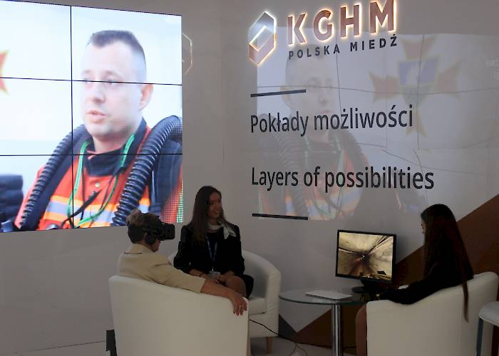 KGHM at 25th Economic Forum in Krynica-Zdrój - 360 video in VR goggles