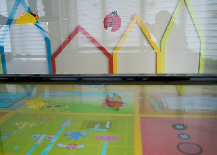 Interactive room in Pod Magnolią kindergarten - interactive table