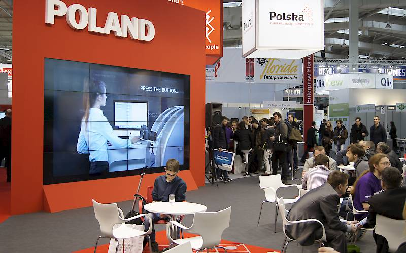 CeBIT - polish national stand - videowall 4x4
