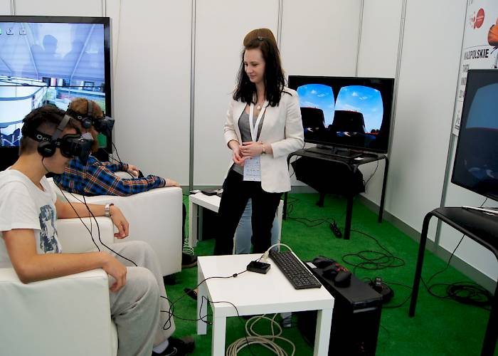 Malopolska Innovation Fair - virtual tour in Oulus Rift goggles