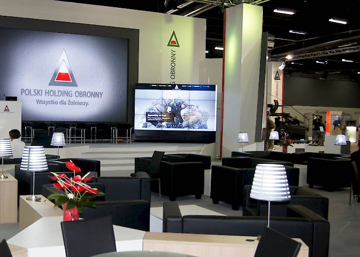 Polish Defence Holding - LED screen, videowall 3x3
