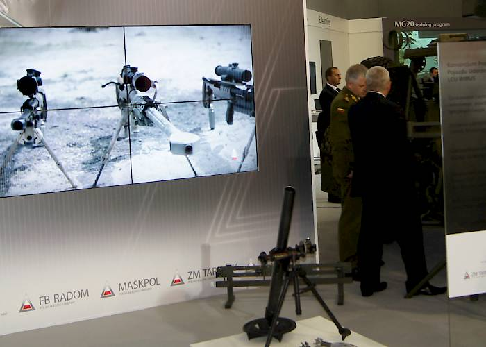 Polish Defence Holding - videowall with defence industry presentation
