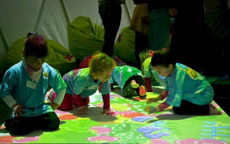 Kubuś branch birthday - interactive floor for kids