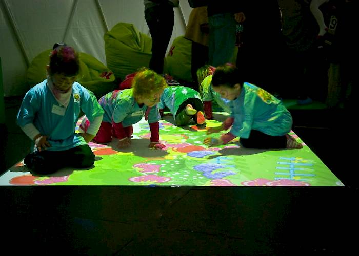 Kubuś - Children's Day and birthday of Polish beverage brand Kubuś - interactive floor