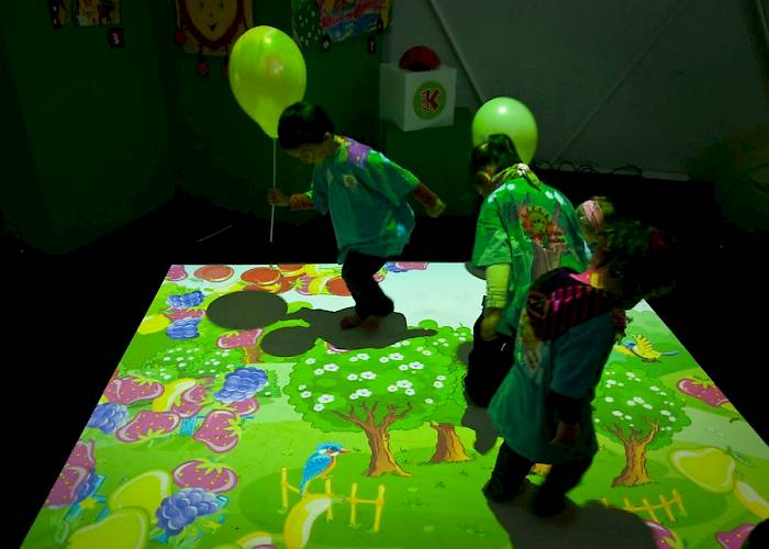 Multitouch floor on a Children's Day, interactive game for kids