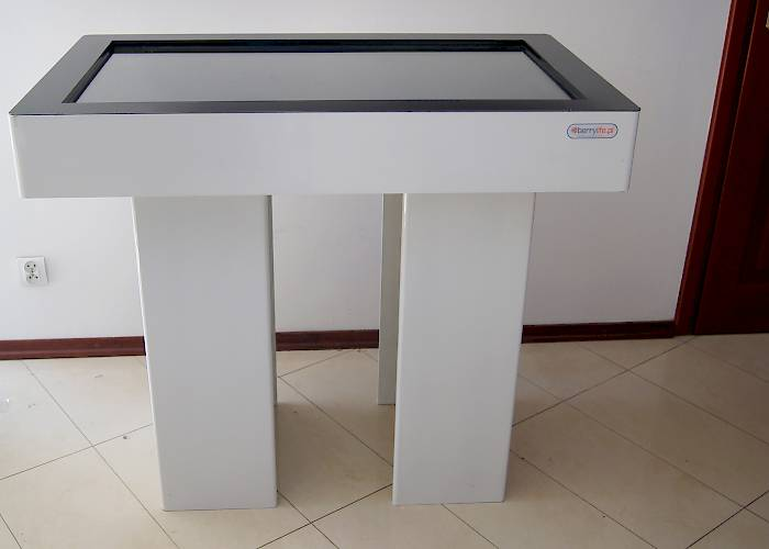 Touchable table - side view