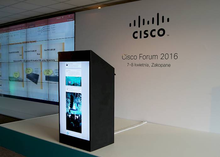 Multimedia stand on Cisco Forum 2016