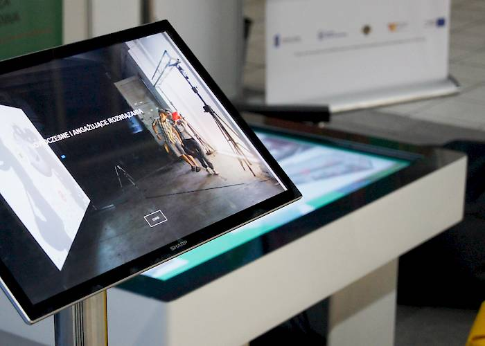 Buildings Modernization Fair - interactive presentation on touch screen