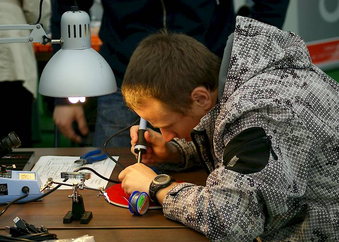 Malopolska Innovation Festival - Maker Space - creating electronic dice