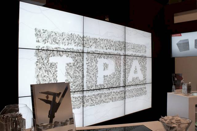 Multimedia wall on TPA stand